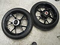 2011 ZX14 Wheels & Tires Black Silver Red